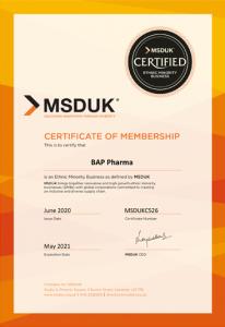 BAP Pharma MSDUK Diverse Supplier